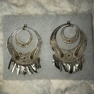 Vintage Sterling Silver Filigree Earrings